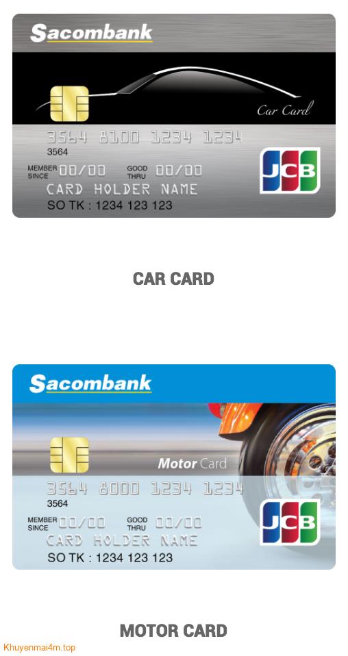 THẺ TÍN DỤNG SACOMBANK MOTO CARD
