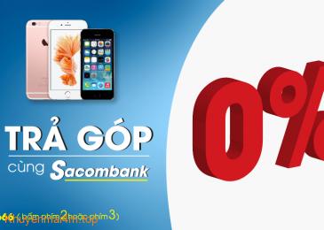 Mua hàng trả góp lãi suất 0% với thẻ tín dụng quốc tế Sacombank