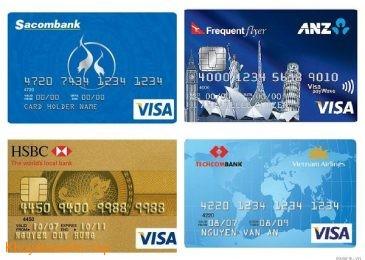 So sánh thẻ tín dụng của ANZ, HSBC, TECHCOMBANK và SACOMBANK