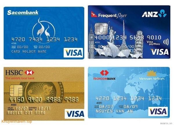 So sánh thẻ tín dụng của ANZ, HSBC, TECHCOMBANK và SACOMBANK - 1
