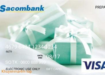 Sacombank cho phép in hình bất kỳ lên thẻ tín dụng