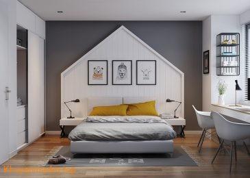 Phòng ngủ sinh động cho ngày đông ấm áp!