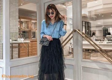 Com bo Chân váy dài + áo sơ mi: Lựa chọn hoàn hảo cho mọi dáng người
