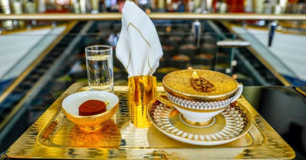 """Thưởng thức món ăn """"dát vàng"""" ở Duabai"""