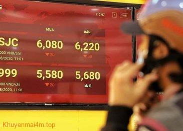 Giá vàng trong nước đã vượt mức 62 triệu đồng/lượng
