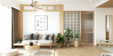 Thiết kế nội thất căn hộ phong cách Japandi