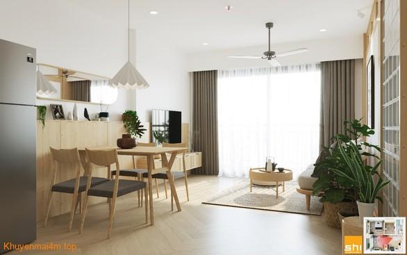 Lối thiết kế nội thất đơn giản dễ dàng, thông minh mang lại không gian sống thoáng rộng